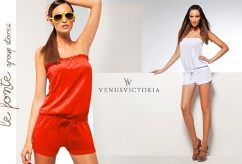 Venus Victoria Ολόσωμη Strapless Φόρμα Venus Victoria All in One από μόλις 12€ ή Beachwear Smoked Jumpsuit από 16,90€