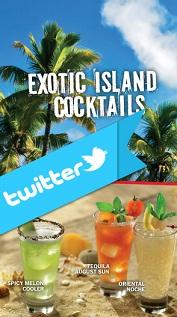 cocktails Διαγωνισμός fridays.gr στο twitter με δώρο 20 Exotic Island Coktails