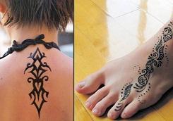 henna tattoo Ένα ζωγραφιστό, αυθεντικό Henna Tattoo, σε συσκευασία Stencil Φτιάξ το μόνος σου με μόλις 5,5€