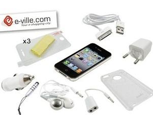 αξεσουάρ Ένα Σετ με Δέκα Απαραίτητα Αξεσουάρ για iPhone 4/4S με μόλις 13€