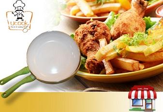τηγάνι Ένα ή δύο αντικολλητικά τηγάνια, με κεραμική επίστρωση για υγιεινό & οικολογικό μαγείρεμα από 14€