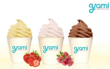 yami  2 κύπελα large frozen yogurt σε γεύση της επιλογής σας με δύο toppings ή με δημητριακά και φρούτα, με μόλις 4,9€