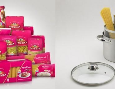 Διαγωνισμός MISKO με δώρο ζυμαρικά κάθε μέρα και κατσαρόλες διπλού βρασμού