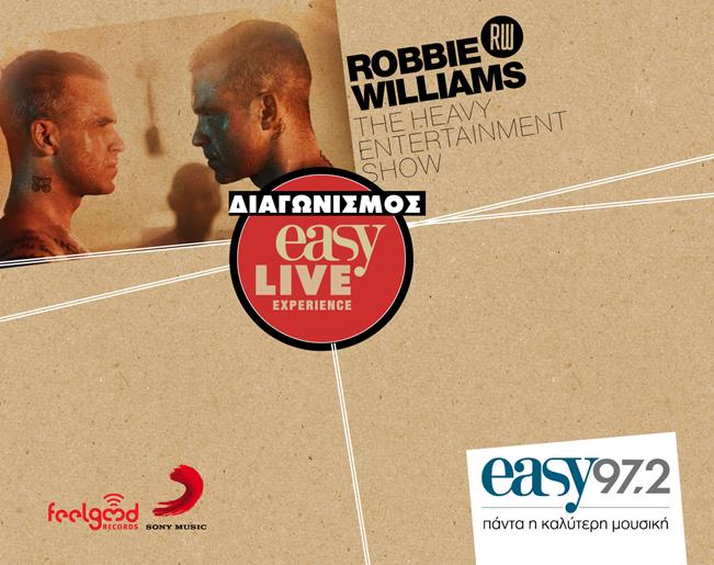 Διαγωνισμός Easy 97,2 με δώρο ταξίδι στη συναυλία του Robbie Williams