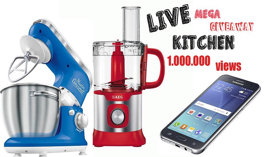Διαγωνισμός Live Kitchen με δώρο Samsung Galaxy J5, κουζινομηχανή και Blender