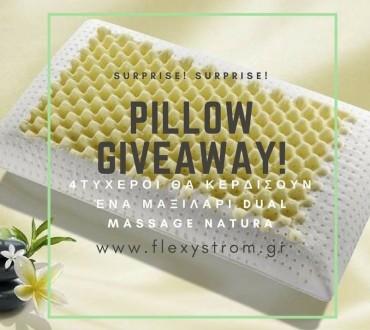 Διαγωνισμός Flexy Storm με δώρο μαξιλάρια memory Dual Massage