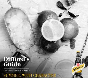 Διαγωνισμός Difford's Guide με δώρο Schweppes για 1 μήνα
