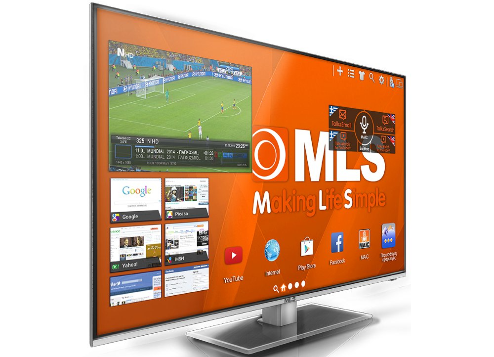 Mls Supersmart Tv 49inches Fhd 3d Left