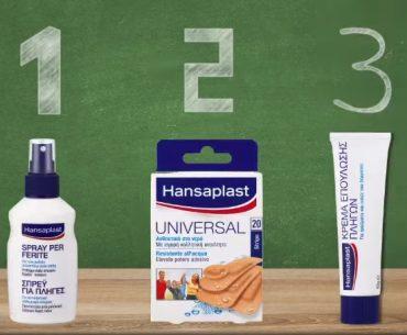 Διαγωνισμός Hansaplast με δώρο 10 kit περιποίησης πληγών