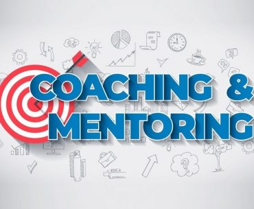 Coaching And Mentoring Creative Business Concept. Web Design Template.